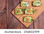 Canapes With Paste Of Avocado ...
