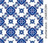 abstract seamless ornamental... | Shutterstock .eps vector #256835284