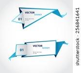 vector origami banners set | Shutterstock .eps vector #256841641