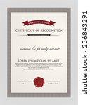certificate template. | Shutterstock .eps vector #256843291