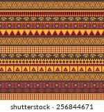 amazing african vector seamless ... | Shutterstock .eps vector #256844671
