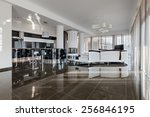 modern luxury interior in... | Shutterstock . vector #256846195