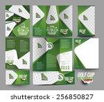 golf club stationery set... | Shutterstock .eps vector #256850827