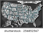 usa united states america... | Shutterstock .eps vector #256852567