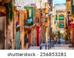 Narrow Street In Valletta   Th...