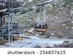 Small photo of PALM SPRINGS, CA - FEBRUARY 24, 2015: Palm Springs Aerial Tramway Cabin. At Valley Station, one of the original cabins used to transport visitors to the Mountain Station at an elevation 8,516 feet