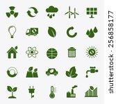 ecology flat material design... | Shutterstock .eps vector #256858177