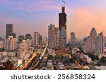 bangkok city at twilight | Shutterstock . vector #256858324