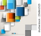 overlapping geometric squares... | Shutterstock .eps vector #256861525