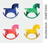 Horse Toy Icon Abstract...