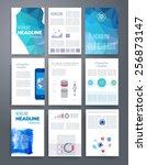 templates. vector flyer ... | Shutterstock .eps vector #256873147
