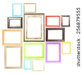 collection of frames isolated... | Shutterstock . vector #256879555