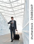 businessman walking in urban... | Shutterstock . vector #256882669