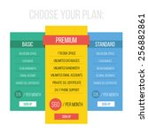 modern flat style pricing table ...