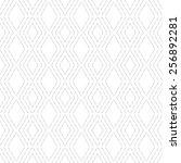 vector monochrome seamless... | Shutterstock .eps vector #256892281