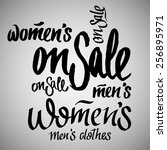 on sale  sale  women s and man... | Shutterstock .eps vector #256895971