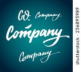 company co. handmade crafted... | Shutterstock .eps vector #256895989