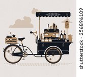 creative detailed vector street ... | Shutterstock .eps vector #256896109