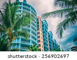architectural flat building... | Shutterstock . vector #256902697