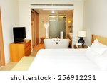 apartment in the luxury hotel ... | Shutterstock . vector #256912231