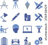 engineering and drafting icons | Shutterstock .eps vector #256918429