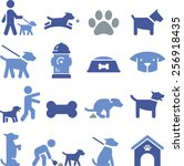 Dogs And Puppy Icons.