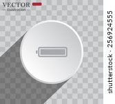 white circle on a gray... | Shutterstock .eps vector #256924555
