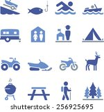 camping and outdoor recreation... | Shutterstock .eps vector #256925695