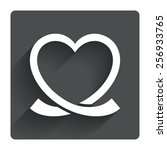 heart ribbon sign icon. love...