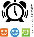 alarm clock icon | Shutterstock .eps vector #256938175