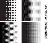 halftone dots pattern gradient... | Shutterstock .eps vector #256939534