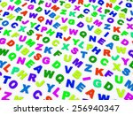 letters of the english alphabet.... | Shutterstock . vector #256940347