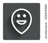happy face map pointer symbol....