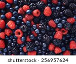 Blueberries  raspberries and...