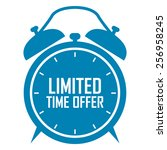 blue limited time offer on... | Shutterstock . vector #256958245