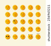 vector illustration smile icon... | Shutterstock .eps vector #256965211