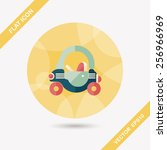 toy car walker flat icon with... | Shutterstock .eps vector #256966969