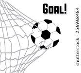 soccer game  vector illustration | Shutterstock .eps vector #256968484