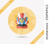 baby car seat flat icon with... | Shutterstock .eps vector #256969411