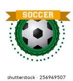 soccer game  vector illustration | Shutterstock .eps vector #256969507