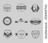 set of vintage badge graphic...   Shutterstock .eps vector #256969741