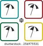 umbrella symbol and icons set...