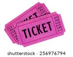 ticket   two purple or pink... | Shutterstock . vector #256976794
