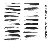 abstract thin strokes black ink ... | Shutterstock .eps vector #256986445