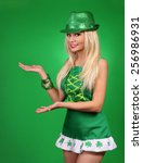 St Patrick's Day Girl. Cheerfu...