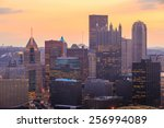 Skyline Of Downtown Pittsburgh...