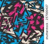 blue grunge seamless pattern  | Shutterstock .eps vector #257000437