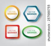 vector banners set | Shutterstock .eps vector #257000755