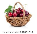Basket Full Of Fresh Red Cherry ...