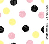 cute polka dot. vector seamless ... | Shutterstock .eps vector #257006221